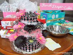 Floral Diaper Cake