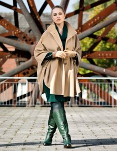 Material mix coat with cape look Beige by Samoon  Shop Now: http://www.navabi.co.uk/coats-samoon-material-mix-coat-with-cape-look-beige-16703-0100.html?utm_source=social-media&utm_medium=pinterest&utm_campaign=outfits27112013  #navabi #outfit