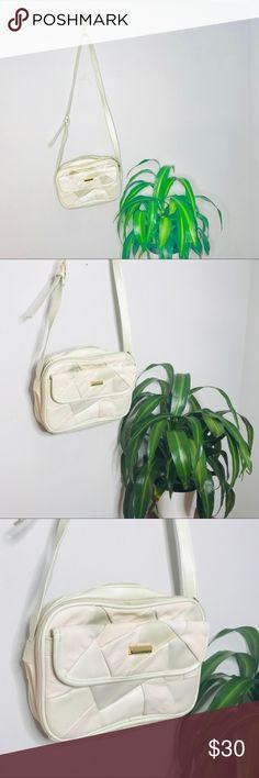 23d76b0a9 Vintage Retro 80 s Leather Patchwork Crossbody Bag Vintage Retro 80 s  Leather Patchwork Crossbody Bag Vintage Bags