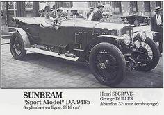 LE MANS 1925 - Sunbeam Sport  #15 -  Henry Segrave - George Duller