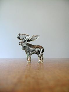 Mid Century Palatnik Lucite Op Art Moose Sculpture / by luola