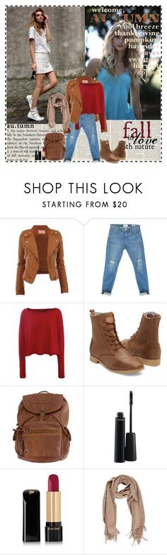 """""""Fall in love with nature"""" by im-a-daydreamer ❤ liked on Polyvore featuring Frame, Crea Concept, TOMS, MAC Cosmetics, Lancôme and Acne Studios"""