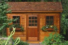 DIY Garden Storage Sheds, Wood Shed Kits, Large & Small Red Cedar Sheds