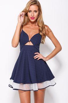 Playful Dress, Navy, $59 + Free express shipping http://www.hellomollyfashion.com/playful-dress-navy.html