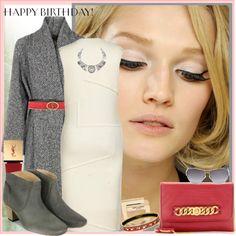 """Happy Birthday KIM♥♥♥♥♥"" by marthalux ❤ liked on Polyvore"