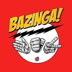 Camiseta chica The Big Bang Theory. Bazinga, piedra, papel, tijera