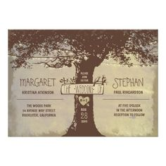rustic tree and string lights wedding invitation we are given they also…