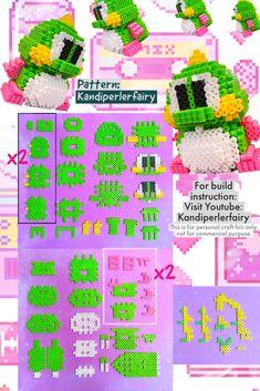 Kandi Mask Patterns, Easy Perler Bead Patterns, Perler Bead Templates, 3d Perler Bead, Diy Perler Beads, Beading Tutorials, Beading Patterns, Pixel Art, Hamma Beads Ideas