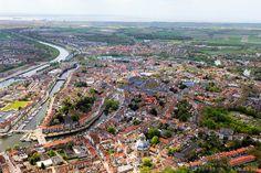 Nederland, Zeeland, Walcheren, 09-05-2013; overzicht Middelburg met links Kanaal door Walcheren. Oostkerk in de voorgrond.<br /> Capital of the province of Zealand. <br /> luchtfoto (toeslag op standard tarieven)<br /> aerial photo (additional fee required)<br /> copyright foto/photo Siebe Swart