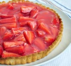 "Double Strawberry Pie: ""I love strawberry pie, and this is the first one I have ever made — and the best I have ever tasted! Crispy pie crust, tangy-sweet filling and topped with whipped cream — delicious!"" -mari79"