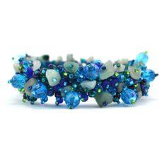 Magnetic Stone Caterpillar Bracelet Blue - Lucias Imports (J)