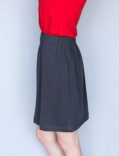 DIY: simple knit skirt