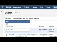 Find elusive issues with JIRA's Query Language. Learn More: atlassian.com/jira.  www.youtube.com/watch?v=XK4zj5HcUx4  Using JIRA's advanced search, JQL - YouTube