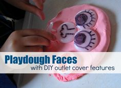 DIY Mr.Playdough Face - teach kids about emotions with playdough.