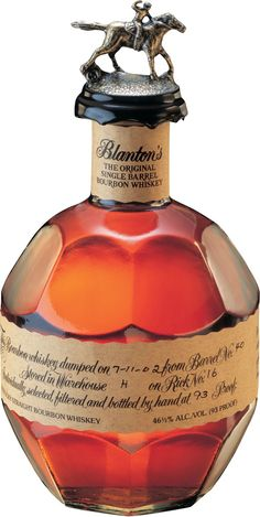 Blanton's Original Single Barrel Bourbon #Whiskey.  This #bourbon scored three points higher than Pappy Van Winkle's 23YO Bourbon at the Ultimate Spirits Challenge in 2012.   @Caskers