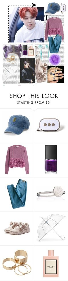 """Untitled #90"" by v-bts8486 ❤ liked on Polyvore featuring Oris, SO, PINTRILL, McQ by Alexander McQueen, NARS Cosmetics, Sandro, Rachel Jackson, Puma, ShedRain and Call it SPRING"