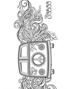 hippie style coloring pages for adults