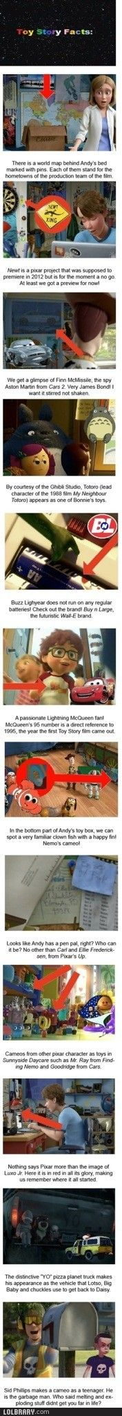 Toy story facts!! I figured out the last one the first time I watched it!