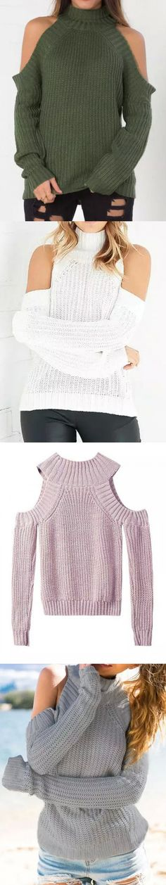 Simple, casual and sophisticated. Pair knit sweater with your favorite dark denim or leggings!