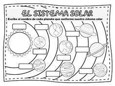 Fichas de Primaria: El sistema solar
