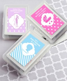 Find Playing Card Favors with Personalized Case. Simply Stylish with quantity discounts here, along with other wedding favors and shower gifts. Personalized Playing Cards, Personalized Baby Shower Favors, Playing Card Box, Unique Wedding Favors, Wedding Ideas, Shower Gifts, Wedding Cards, Party Favors, Baby Gifts