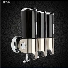 Black Stainless steel & ABS Wall Mounted Shower Soap Dispenser Bathroom Soap Box - http://home-garden.goshoppins.com/bath-products/black-stainless-steel-abs-wall-mounted-shower-soap-dispenser-bathroom-soap-box/