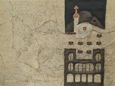"""Picture """"Batllo house"""" . Dimensions: 97 (W) x 107 (H) x 5 cm (D). Collage. Mixed Technique."""