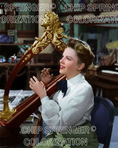 JUDY GARLAND Playing a Harp | 8x10 Beautiful COLOR Photo by CHIP SPRINGER. Featured Ebay Listing. Please visit my Ebay Store, Legends of the Silver Screen, at http://legendsofthesilverscreen.com to see the current listings of your favorite Stars now in glorious color! Thanks for looking and check out my Youtube videos at https://www.youtube.com/channel/UCyX926rA5x4seARq5WC8_0w