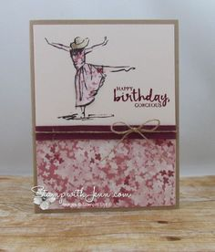 Beautiful You stamp set with Paper Piecing technique. Sweet Sugar Plum and Rich Razzleberry