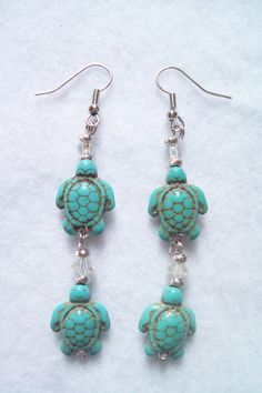 Southern OOAKS mermaid jewelry designs. Turtles are made of turquoise.