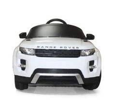 Amazon.com: Licensed by Range Rover Kids White Range Rover Evoque Ride On Car Toy With Remote Control: Toys & Games
