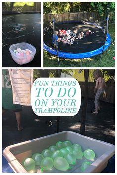 Fun things to do on your trampoline Trampoline activities Garden trampoline … – Wanderlust Fun Trampoline Games, Garden Trampoline, Outdoor Trampoline, Best Trampoline, Trampoline Workout, Fun Sleepover Ideas, Sleepover Activities, Outdoor Activities, Toddler Activities