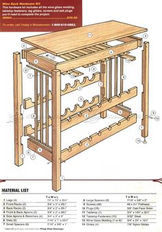 Wine Rack Table Plans - Furniture Plans