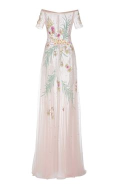 Beaded Off the Shoulder Gown by Georges Hobeika