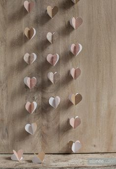 pink and gold heart garland DIY #EverydayConfetti