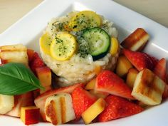 Lemon and courgette risotto
