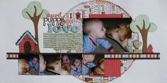 Scrapbook Double Page Layouts | love this circle. Layouts inspired by sketches - Christina Hoffman ...