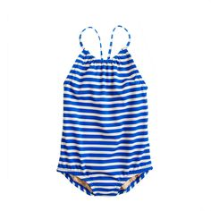 Girls' tank in thin stripe - tanks - Girls' swim - J.Crew