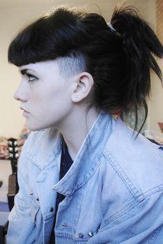 bangs undercut long hair female - Google Search