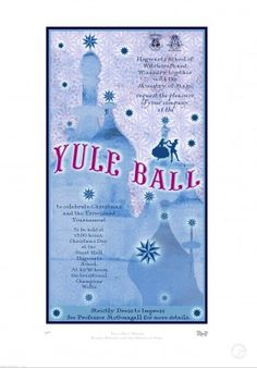 #YuleBall --- Miraphora Mina and Eduardo Lima [graphic design duo behind the #graphic #props for the eight Harry Potter films]