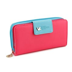 Gearonic Fashion Women PU Cute Clutch Long Card Holder Wallet, Women's