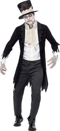Costume zombie gentleman uomo Halloween  Questo travestimento da zombie si  compone di un vestito con 81088bb89048