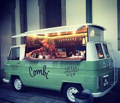 ideas for food truck design ideas mobiles coffee shop Kombi Trailer, Vw T1 Camper, Volkswagen, Food Trailer, Vw Bus, Food Trucks, Kombi Food Truck, Coffee Truck, Coffee Carts