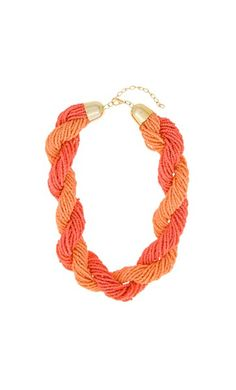 Necklaces - Twisted Seed Bead Short Collar Necklace - Adorne