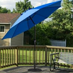 11u0027 Deluxe Auto Tilt Patio Umbrella With Sunbrella Fabric | Outdoor Ideas |  Pinterest | Sunbrella Fabric, Patio Umbrellas And Patios