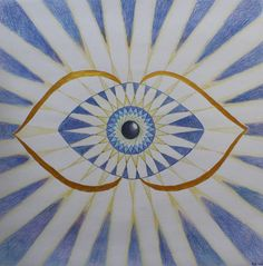 "Third Eye Chakra - Your third eye is your vision, your dreams. The Sanskrit word for the sixth chakra is ""Ajna"", which means ""beyond wisdom"" 6 Chakra, Third Eye Chakra, Ayurveda, Les Chakras, Spiritual Symbols, All Seeing Eye, Eye Art, Sacred Geometry, Illustration Art"