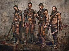 Crixus, Agron, Spartacus, Gannicus Spartacus War of the Damned