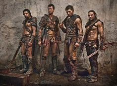 Crixus, Agron, Spartacus, Gannicus Spartacus War of the Damned
