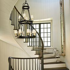 Light and Neutral Decorating for your Stairwell < Light and Neutral Design - Coastal Living