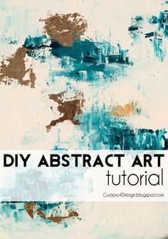 Abstract Artwork with Gold Leaf DIY Tutorial from Cuckoo 4 Design.